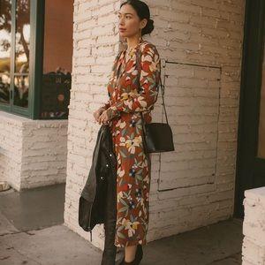 Sezane Floral Print Dress